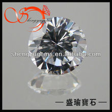Loose brilliant cut white round cubic zirconia AAA cz stone