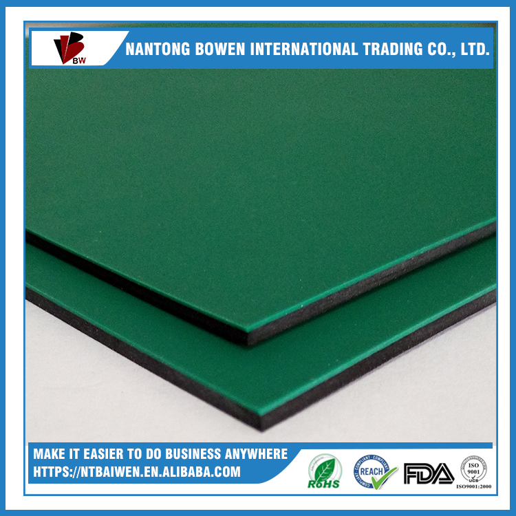 green 5mm anti-static insulating rubber sheet