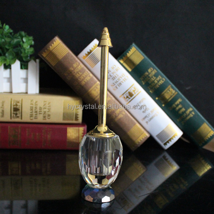 refillable oud crystal glass fancy oil perfume bottle for cheap sale