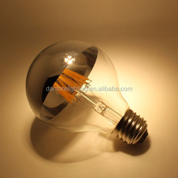 silver top g125 shadowless led filament bulb with copper top DIY