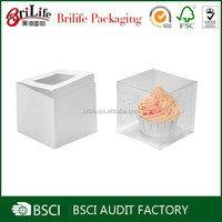 Food-grade China supplier cheap custom clear plastic cake box