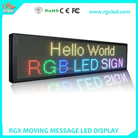 Shenzhen RGX 10mm red color/multi color LED advertising board/P10 led message moving sign//LED programmable display