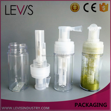 Big capacity lockable mouth clear plastic bottle glitter hair spray