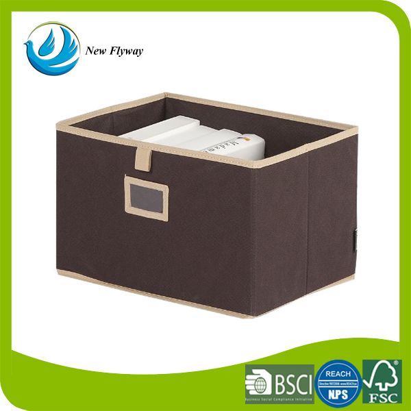 Houseware excellent quality storage bin cheap folding book clothes fabric storage boxes
