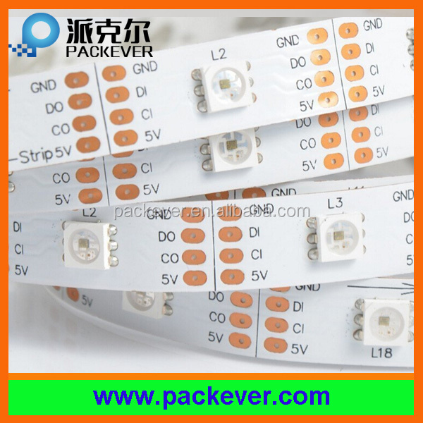 5V 30LEDs/m 30pixels/m programmable digital SK9822 LED strip light
