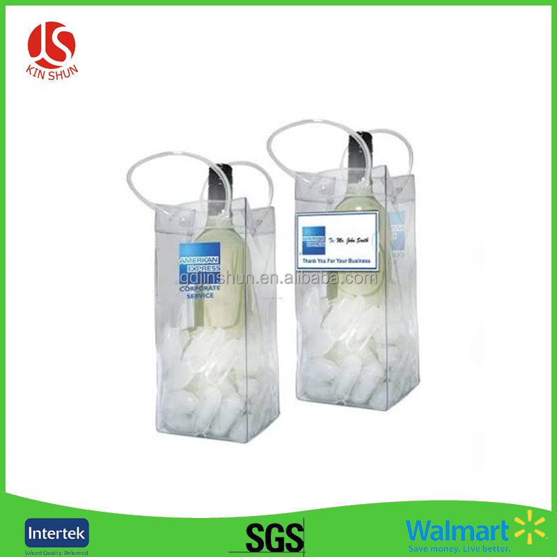 PVC Material Promotion Wine Cooler Bags Pvc Ice Bag For Cooling Wine