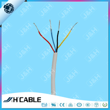 4 core round unshielded bare copper telephone cable 4 core electrical cable