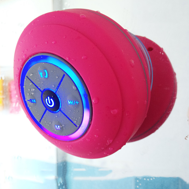2018 hot LED light waterproof Blue tooth <strong>speaker</strong> with TF card and silicone sucker