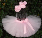 In stock apparel kids fancy pink party dress handmade fluffy skirt frock girls costume professional ballet tutu