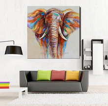 Room Canvas Print Modern Painting abstract elephant painting animal pop oil painting on canvas
