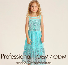 manufacture new design little girls party dress