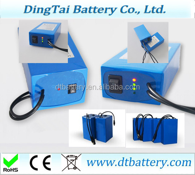 for 12v batttery applications 11.1v 15ah li-ion battery with switch for Spotlights lamp floodlights