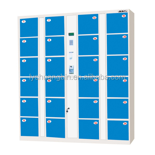 Modern simple smart 24-Doors Fingerprint Locker, biometric fingerprint lockeror factory