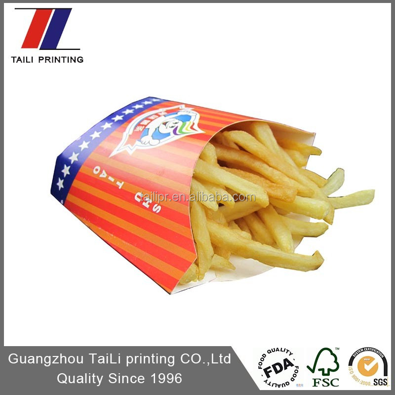 Custom paper chip container,food packaging box
