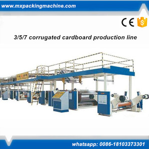 5 layer carton box making machine 3/5/7-ply corrugated cardboard production line