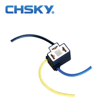 Chsky Patent product bend angle ceramic bulb holder H4 wholesale auto light good quality ceramic bulb holder H4