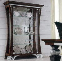 BL11310B-Luxury display cabinet with glass doors classic living room showcase design