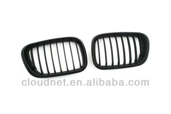 Replacement Euro Style Matte Black Front Grille For BMW X5 00-03 pre-facelift X5 Series