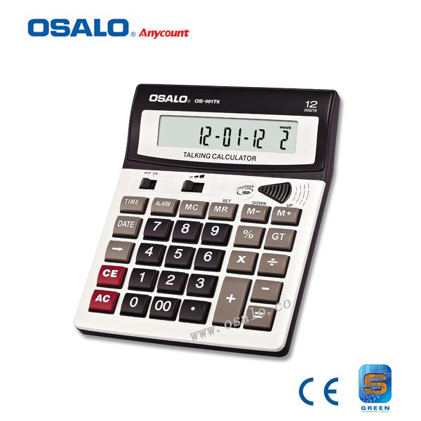 OS-901TK phonetic function calculator crystal key talking calculator