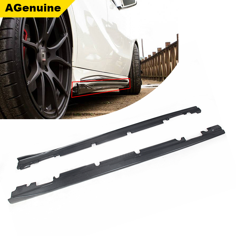 Carbon fiber car accessories body side extension lip side skirts for mercedes benz CLA 180 200 250 260 45 class <strong>W117</strong>