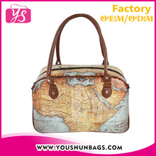 Latest Model Travel Bags with Antique Map Design