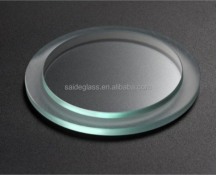 High temperature resistance tempered glass round shape water meter glass cover