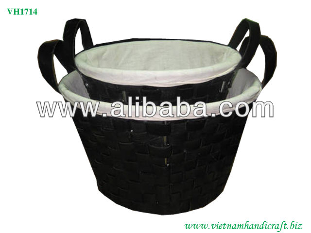 Vietnam Recycled rubber basket, Woven Recycled Tire Storage Basket
