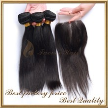 "16"" 18"" 20"" hair and 14"" three part lace closure 4x4 virgin hair bundles with lace closure"