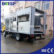 containerized mobile screw sludge treatment equipment for waste water treatment