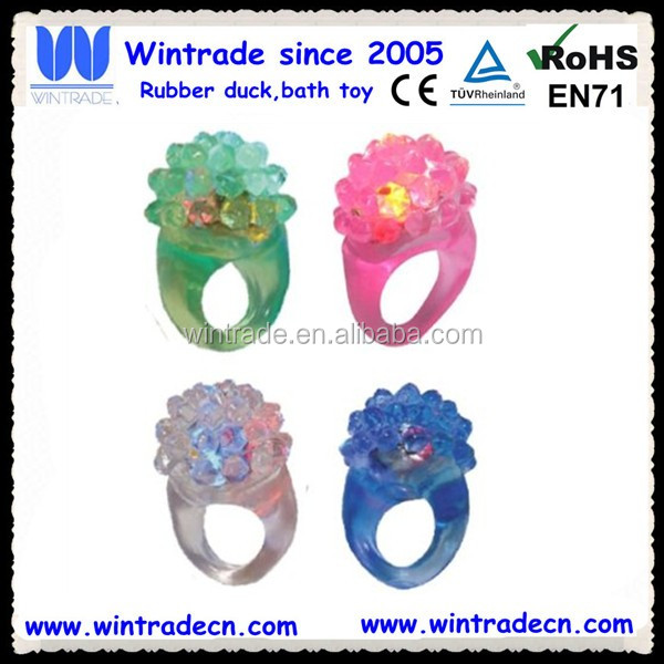 LED flashing squeeze maomao ring