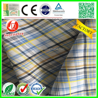 Eco-friendly Wholesale yarn dyed cotton fabric factory