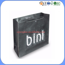 Flashing twinkling LED recyclable luxury style printed gift custom paper shopping bag