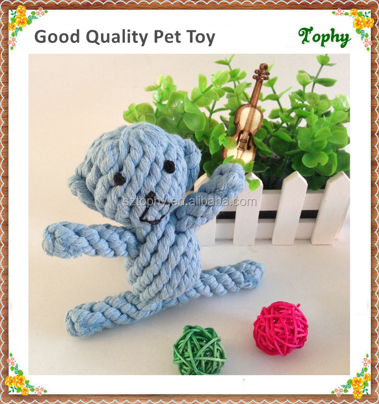 Dog Toys Pet Cotton Rope Monkey Bear Duck Cat Handmade Knitted Pet Toy