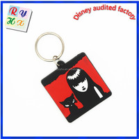 2015 new fashion beautiful keychain design, cool girl 3d custom shaped keychain