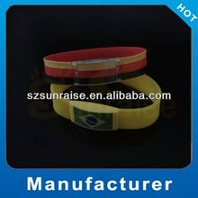 silicone medical bracelet for 2014 World Cup Brazil