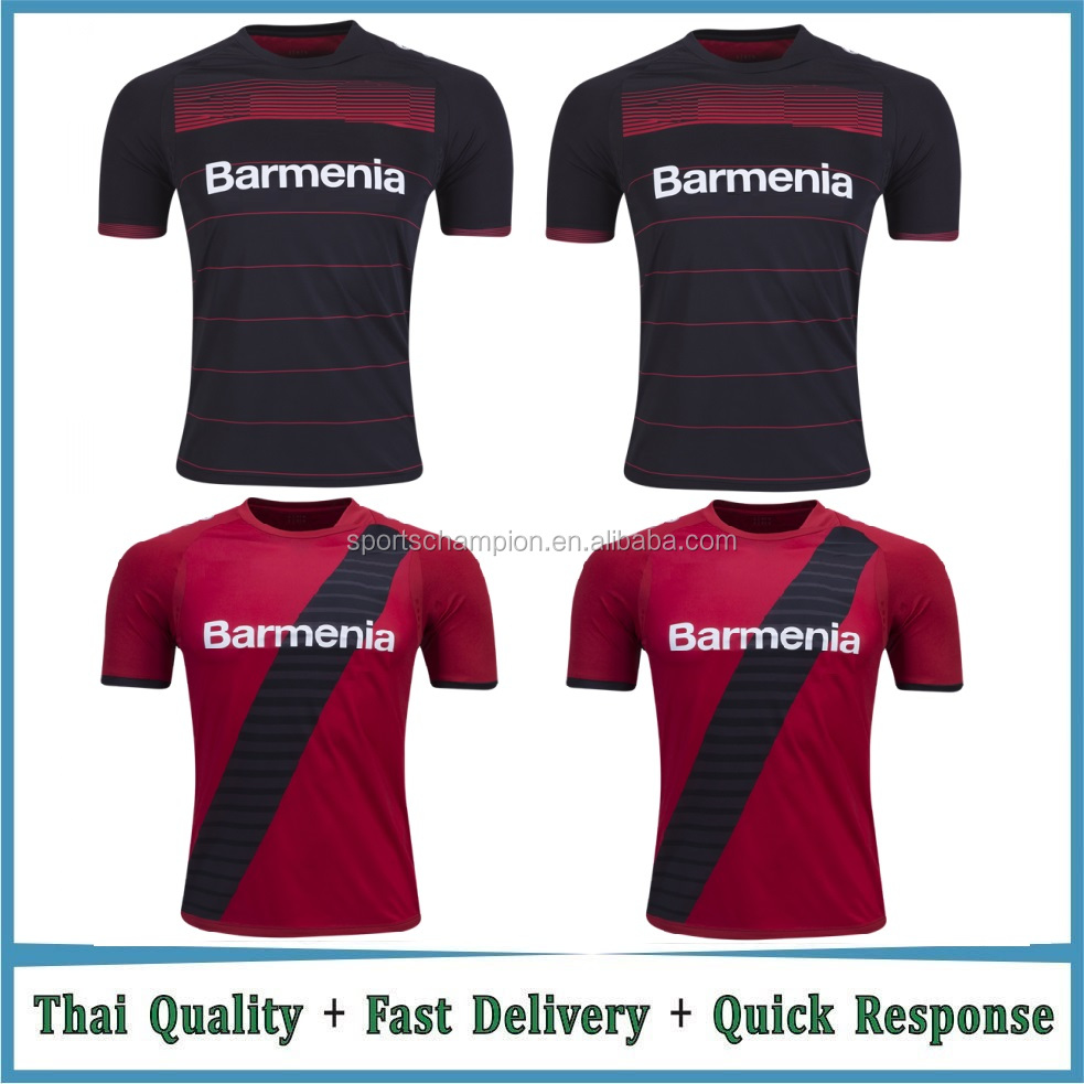 Custom Made Striped Thai Quality Football Jersey Soccer Jersey