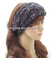Fashion knitted mix-color hair bands