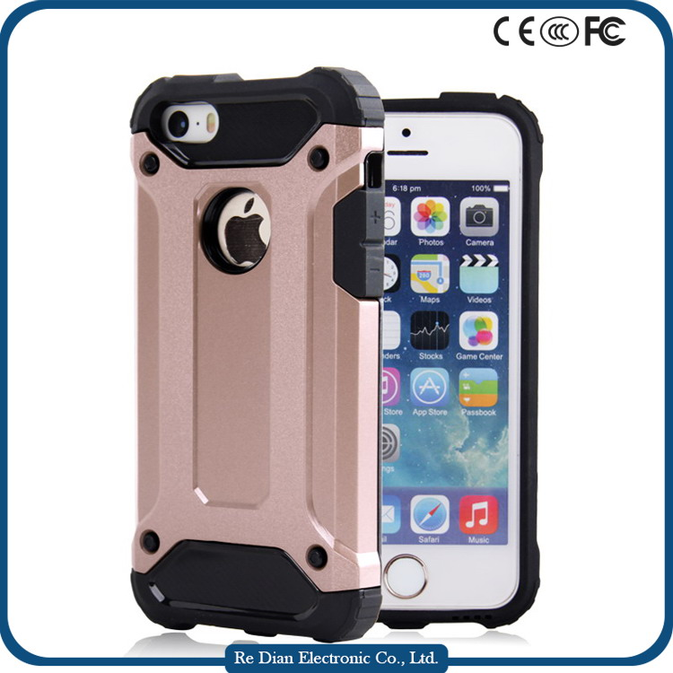 Low MOQ TPU+PC Cell Phone Case in Stock Case Cover for iPhone 5C