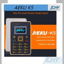 Ultra Thin mini AEKU K5 Cell Phones Student Version Credit Card Mobile Phone FM Bluetooth PK AIEK M5 Card Phone