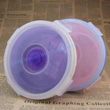 FDA free silicone lunchbox/foldable food storage container/kids meal box