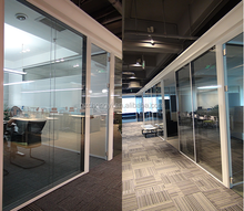 Aluminum frame glass office partition systems good choice for modern offices