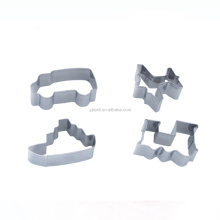 Premium 4pcs Train Car Plane Boat Stainless Steel Vehicle Cookie Cutter Set