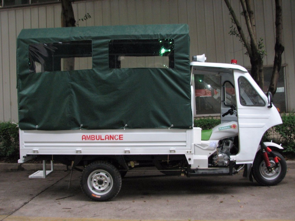 for adult disabled motorized enclosed motor ambulance tricycle
