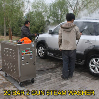 2015 new CE 30 bar diesel mobile vapor steam car wash equipment/vapor carpet washer vacuum cleaner