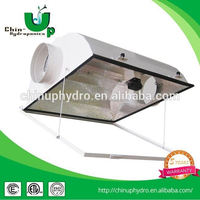 6 inch grow air cool glass tube reflector/ double ended 6 inch reflector/ hydroponic hps grow light reflector