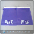 custom zipper color transparent pvc Plastic hanger hole Bag with plastic ring for packaging notebook and pens