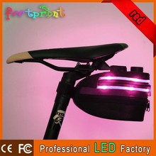 Hot selling led lighting bicycle tool bag