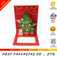 custom high quality hand made christmas tree 3d Christmas card