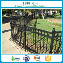 High Quality Beautiful Wrought Iron steel Panel Garden Fence