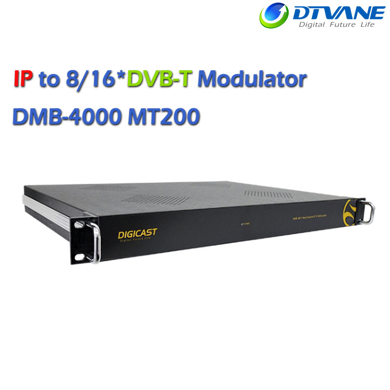 (DMB-4000MT200) IPTV Headend IP to DVB Gateway UDP Modulator Cofdm for 512*IP(SPTS/MPTS) to 8*DVB-T Converter